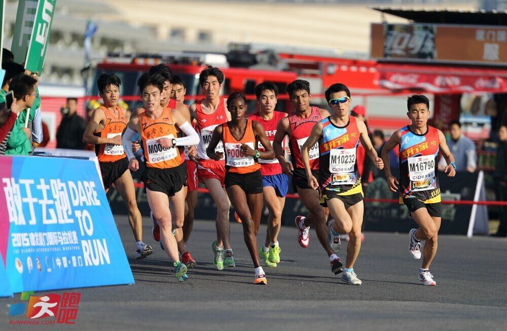 西安交大学子领跑2015厦门国际马拉松高校邀请赛