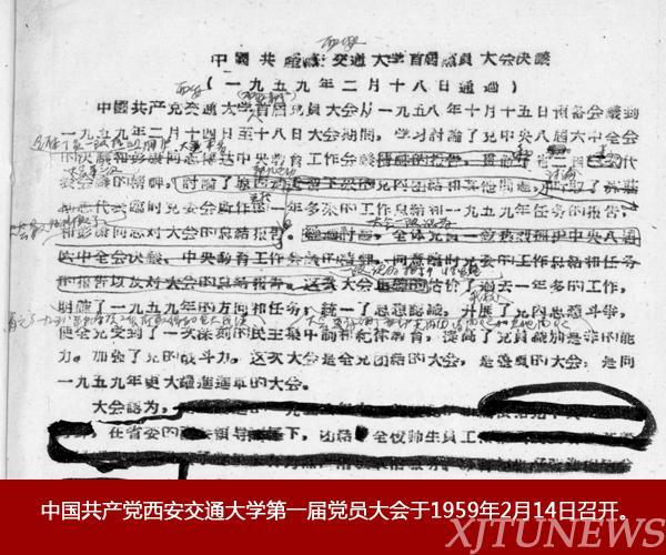 光辉历程——西安交大历次党代会回顾