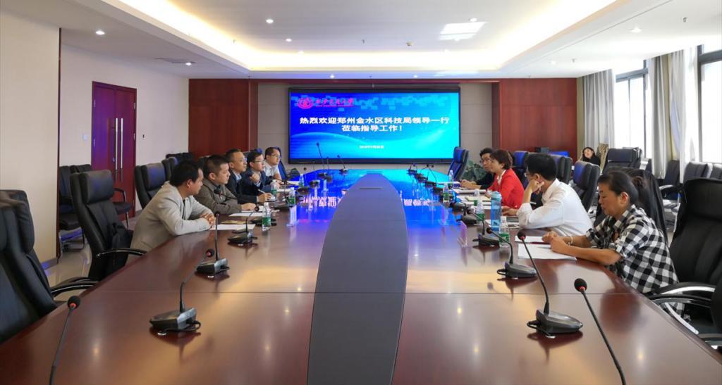 郑州金水区科技局一行来访国家