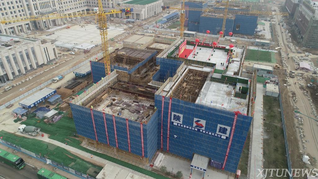 【进军创新港】创新港工程楼和多功能阅览中心封顶