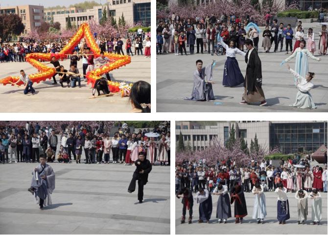 鸣环掬影,翠袖揖春国学社举办第四届汉服节