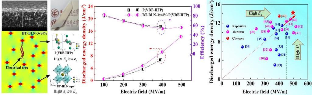 研究人员在聚合物基复合介电储能电容器领域取得重要进展