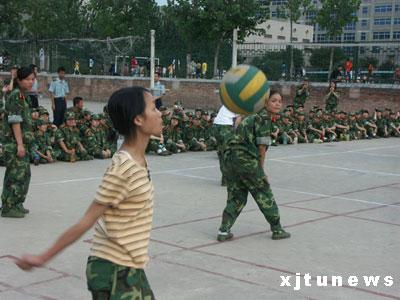 [军营生活]女兵连排球赛